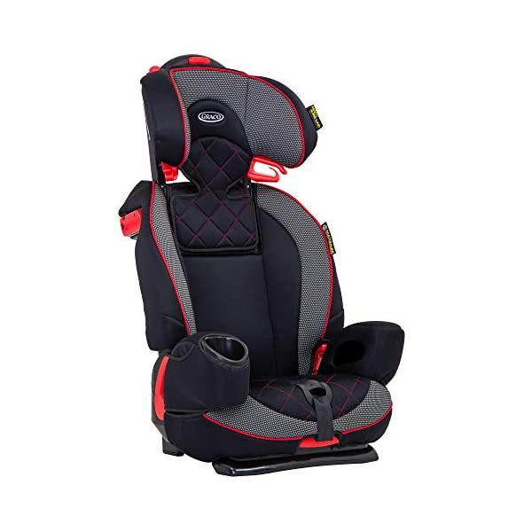 Graco Nautilus Elite Saturn Harnessed Booster Car Seat, Group 1/2/3, Red/Black Graco 2-in-1 convertible car seat for children 9 to 36 kg (approx 9 months to 12 years) From toddler to big kid, nautilus elite grows with your child; the no-rethread harness allows you to easily adjust the harness and headrest together Convenient one-hand height and width adjustable headrest 5