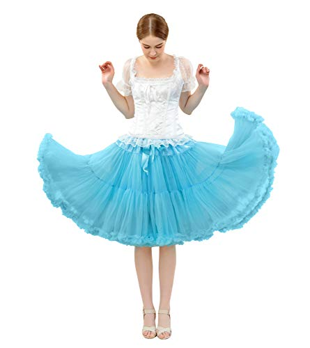 FOLOBE Frauen Tutu Kostüm Ballett Tanz Puffy Rock Erwachsene Luxuriöse Weiche Chiffon Petticoat Tüll Tutu Rock (Tanz-kostüme Für Frauen)