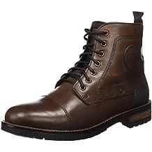 XTI Botin Cro. Piel Marron, Zapatos de Cordones Oxford para Hombre