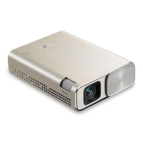 ASUS ZenBeam Go E1Z - Proyector USB de bolsillo, batería de 6400 mAh, hasta 5 horas de autonomía, 150 lúmenes ANSI, DLP, WVGA (854x480), 3500:1, 16:9,