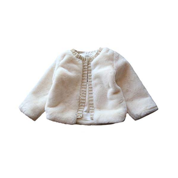 Abrigo de niñas   Niños pequeños Bebés Niñas Chaqueta de Invierno Abrigo cálido Abrigo Grueso Piel sintética a Prueba de… 1