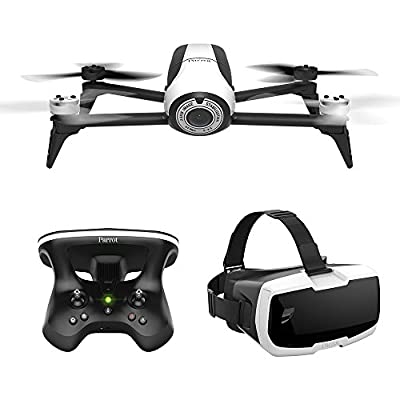 Parrot Bebop 2 Quadcopter Drone with Skycontroller 2 & Cockpit FPV Glasses, 14 MP lens with Full HD Video and Return to Home