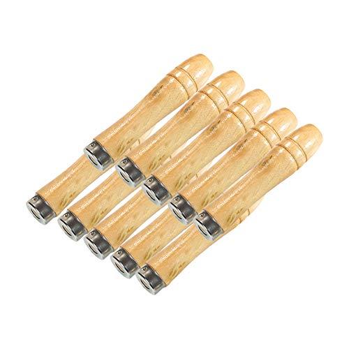 Weanty Hartholzfeile mit Schaft, Holz-Handfeilen, Handwerkzeug, Heimwerker, Industrie, 10 Stück, Holz, Siehe Abbildung, 10Inch-12inch