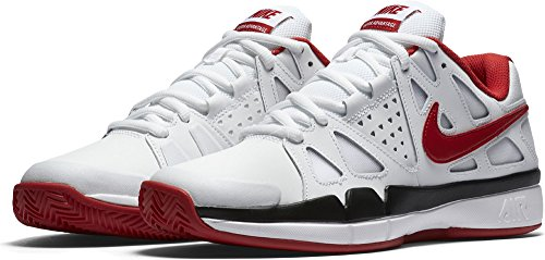Nike Air Vapor Advantage Clay, Chaussures de Tennis Homme Blanco (Blanco (white/university red-black))