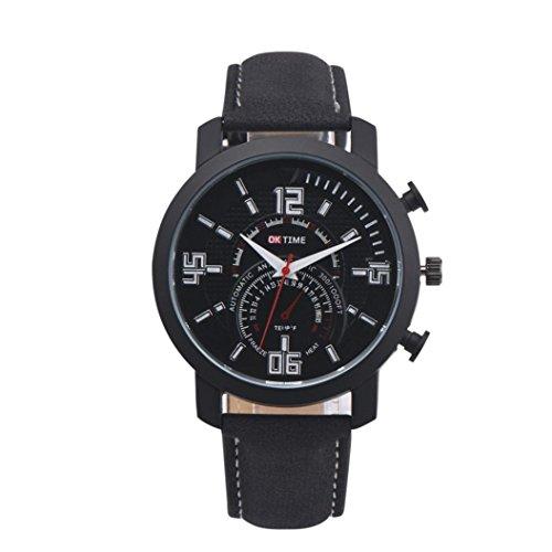 KanLin 1986 Di modo degli uomini di lusso della vigilanza simulata quarzo orologio sportivo (Nero)