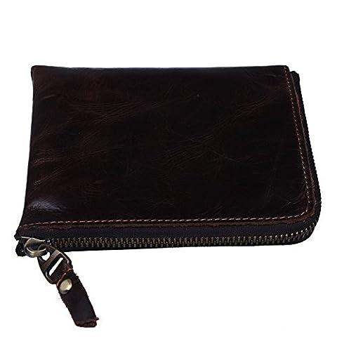 Shopper Joy Kleingeldtasche Geldbeutel Münzbeutel für Damen Herren in Braun