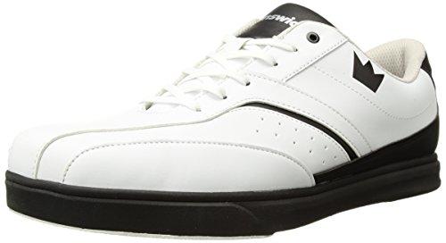 Brunswick Vapor Herren Bowling Schuh Weiß/Schwarz, Herren, weiß / schwarz (Elite-bowling-bowling-schuhe)