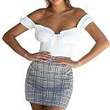 MSSweet-Camisola de Las Mujeres Chaleco Plisado Envuelto Atractivo Sólido de la Honda del Color sólido Tanque Sling Tops Camiseta Slim Fit Ocio La Moda Primavera y Verano Seccion