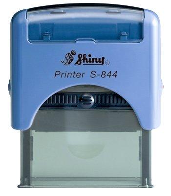 Stempel - Logo Blau 6-zeilig Shiny 22x58 mm Lieferzeit 1-2 Tage Adressstempel - Firmenstempel - Stem