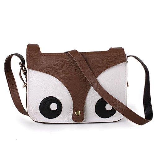 Borsa Messenger Bag schuler/dal design retrò come volpacchiotto atechportstore oppure, in pelle (blu scuro)
