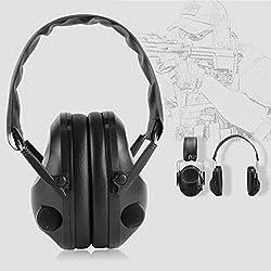 Dailyinshop TAC 6s Casque de tir Tactique à Suppression de Bruit Casque antibruit Chasse Sportive Tir électronique Casque Anti-Bruit (Couleur: Noir)