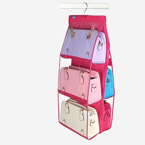 Gankmachine 6 Taschen große freie Geldbeutel-Hand hängender Speicher-Beutel-Organisator Closet