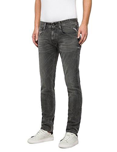 Replay Herren Slim Jeans Anbass Grau (Grey Denim 9)