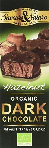 Saveurs et Nature Rochers Bio au Chocolat Noir et au Praliné 45g - Lot de 3