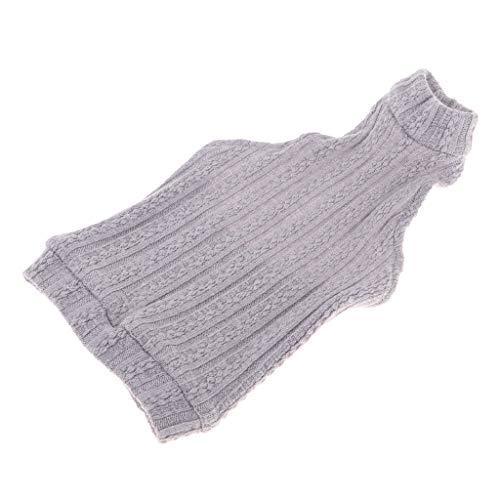 Baoblaze 1/3 Puppe Kleidung ärmellose Stricken Weste Pullover Tops Für 70 cm Onkel Bjd Puppe Dress Up - Grau (Pullover Stricken Top Weste)