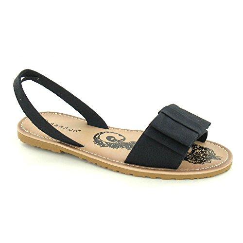 Spot On Damen Sling Sandalen mit Masche und Seepferdchen Koralle