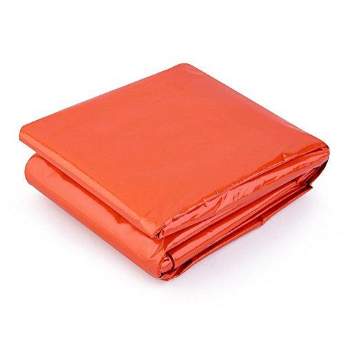 Sacco a pelo termico Zhouba Outdoor emergenza riflettente sopravvivenza bag per viaggi escursioni, Orange, Taglia unica