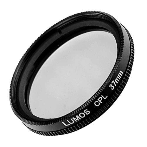 LUMOS Polfilter zirkular 37mm Slim   Kamera Objektiv CPL Pol Filter Polarisationsfilter   optisches Glas schmale Metallfassung Frontgewinde 37 mm