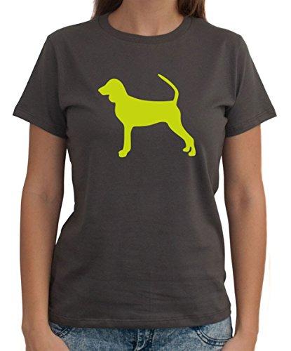 Maglietta da Donna Black and Tan Coonhound silhouette - Coonhound Silhouette