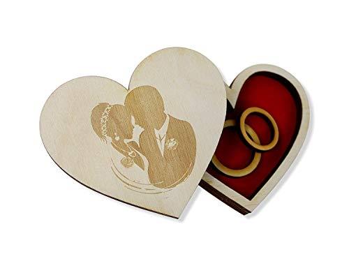 Ringkissen Ringhalter Hochzeit Holz Ringbox Kreative Holz Rustic Ehering Träger Box Benutzerdefinierte Ring Box