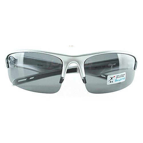 BESTSOON UV-Schutz im klassischen Stil Einfachen Stil Unisex Sport Sonnenbrille Männer Frauen Polarisierte TAC Objektiv Für Radfahren Baseball Laufen Angeln Golf Klettern (Farbe : Silber)