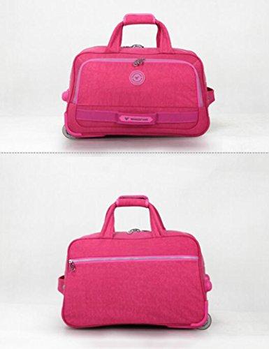 Oxford Textile Tragbare Reisetasche Wash Tuch Stoff Dick Rod Silent Wheel Reise Trolley Taschen Gepäck Taschen ( Farbe : 1 , größe : 49*28*30cm ) 4
