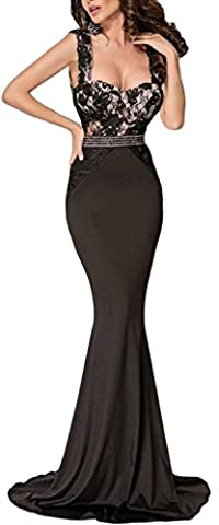 Fempool Woman Maxi Lace V Back Top Mermaid Party Evening