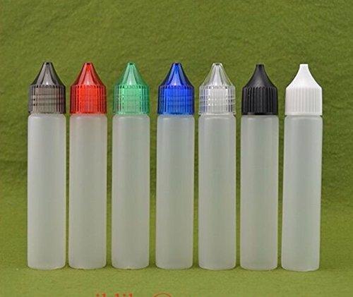 D2KS-10Unicorn Bottle, bottiglia contagocce di precisione, ideale per viaggio in aereo, 50ml, eliquid, DIY, Dropper, 10pezzi