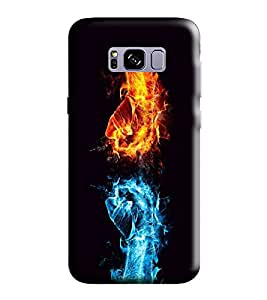 Hi-Me Designer Phone Back Case Cover Samsung S8 :: SamsungS8 :: G950F G950FD G950U G950A G950P G950T G950V G950R4 G950W G950S/G950K/G950L ( Fight Fists Fiery Power Strong )