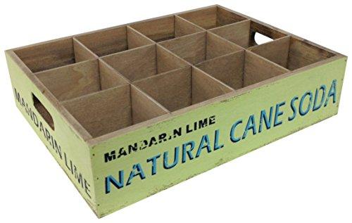 Pide X esa Boca Fordert X Dieser Mund Natural Cane Soda Weinregal, Tablett 26x 26x 9cm, grün