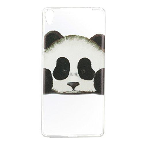 Qiaogle Telefon Case - Weiche TPU Case Silikon Schutzhülle Cover für Apple iPhone 5 / 5G / 5S / 5SE (4.0 Zoll) - HX51 / Ostrich + Flower HX45 / Panda