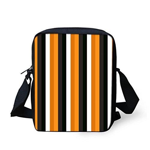 CHAQLIN Borsa Messenger, Halloween Pumpkin (nero) - CHAQLIN stripe