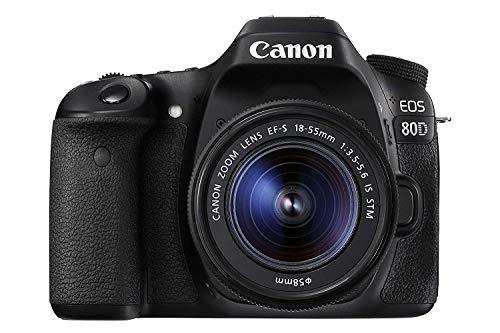 Canon EOS 80D EF-S 18-55 is STM Spiegelreflexkamera schwarz