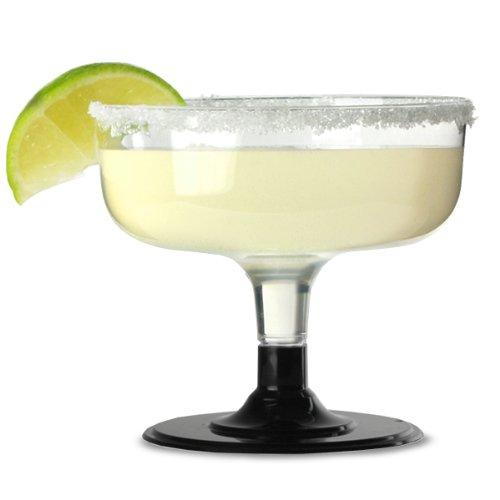 Einweg-Margarita Gläser Schwarz Inhalt: 178g/180ml-Sleeve von 12| 18cl Kunststoff Margarita Gläser, Einweg Kunststoff Cocktail Gläser