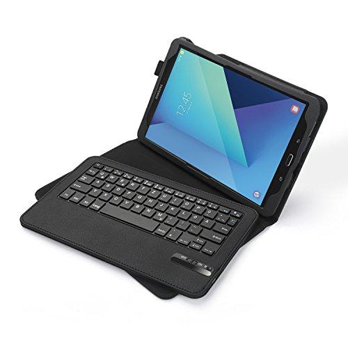 galaxy s3 zubehoer Jelly Comb Samsung Galaxy Tab S3 9.7 Tastatur Hülle, Bluetooth Keyboard Case Trennbare Wiederaufladbare QWERTZ Tastatur für Samsung Tab S3 9,7 Zoll, Schwarz
