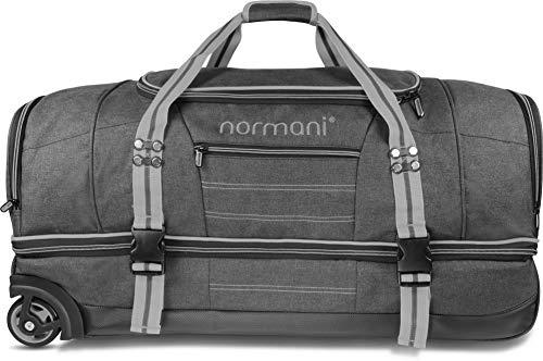 Große und Leichte Reisetasche mit Rollen und Trolley-Funktion - 90 und 120 Liter Farbe Grau Größe 90 Liter