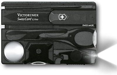 Victorinox SwissCard Lite Onyx - Estuche de belleza (54,5 x 82 x 4,5 mm)