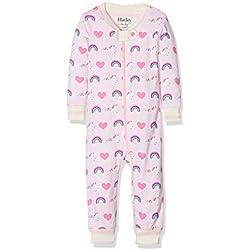 Hatley Baby Girls' Organic Cotton Sleepsuits, Pink (Unicorns/Rainbow), 3-6 Months