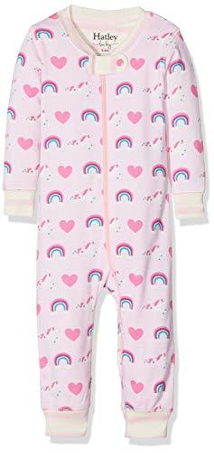 Hatley Baby-Mädchen Schlafstrampler Organic Cotton Sleepsuits, Pink (Unicorns & Rainbows), 6-9 Monate