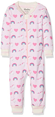Hatley Hatley Baby-Mädchen Schlafstrampler Organic Cotton Sleepsuits Pink (Unicorns & Rainbows) 0-3 Monate