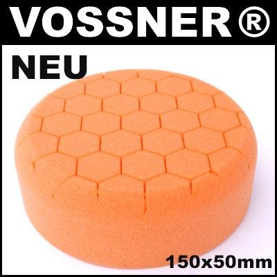 Profi Polierschwamm Hexagon 150mm orange mittel für Poliermaschine