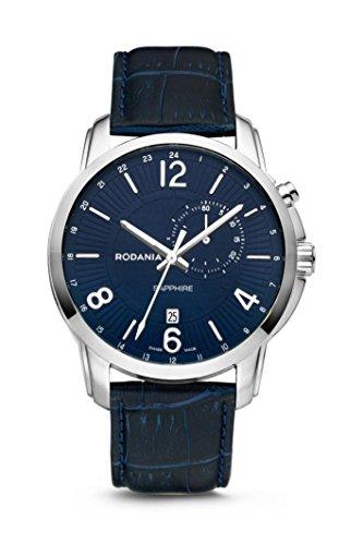 Rodania–Travel Reloj de hombre, color azul Diámetro de 44mm