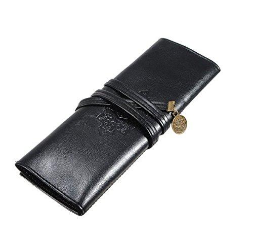Diseño Vintage Liroyal recientemente estuche para lápices con cierre, bolsa de lápiz, bolígrafo bolsillo – funda de piel…