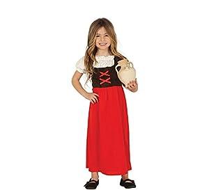 Guirca 41724 - Disfraz posadera-pastora infantil, Multicolor, 5-6 años