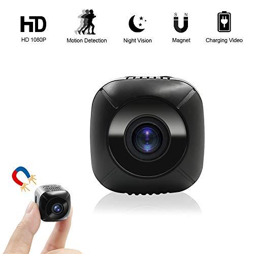 Mini Caméra Espion, UYIKOO HD 1080P Caméra Cachée Espion Portable Mini Caméra avec Détection de Mouvement pour la Sécurité à Domicil