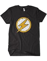 The Flast T shirt Vintage Style Logo Marvel Tv Show movie Flash_logo_Black
