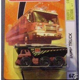 Mattel Matchbox 2008 MBX Construction 1:64 Scale Die Cast Metal Car # 67 - Red Dump Tanker Truck with Black Dumpster by Matchbox (Truck Red Dump)