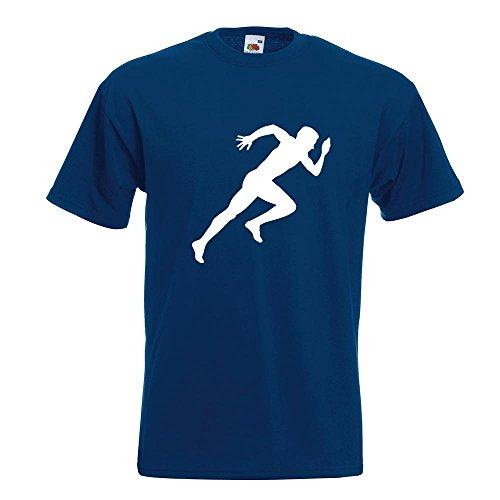 KIWISTAR - Läufer Marathon Sprint T-Shirt in 15 verschiedenen Farben - Herren Funshirt bedruckt Design Sprüche Spruch Motive Oberteil Baumwolle Print Größe S M L XL XXL Navy