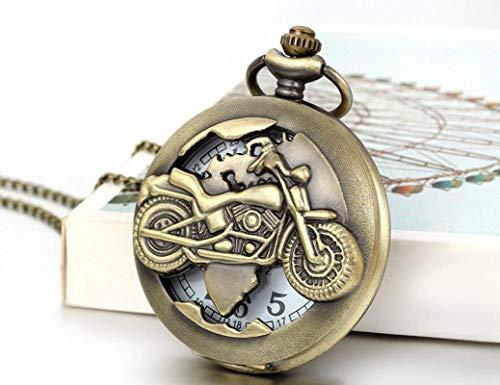 CS-LJ Taschenuhr Bronze Biker Motorrad Motorrad Moto Halskette