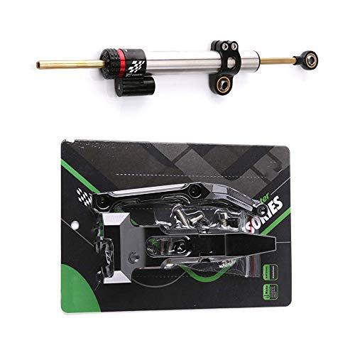 QQJK Für Yamaha MT 09 Tracer, Motorrad Aluminiumlegierung Einstellbarer Stabilisator Lenkungsdämpfer Dämpfer
